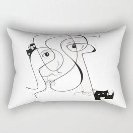 City Face by Jordan E. Eismont Rectangular Pillow