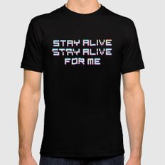 Stay Alive; Stay Alive Mens Fitted Tee MEDIUM Black