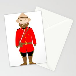 International Police Uniforms & Moustaches Stationery Cards