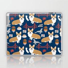 Corgi san francisco travel holiday vacation dog breed gifts Laptop & iPad Skin