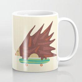 Hedgehog in hair raising speed Coffee Mug