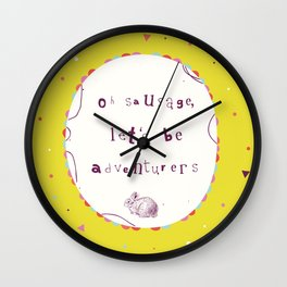Adventurers Wall Clock