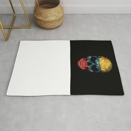 Dark Skull with Flag of Venezuela Rug