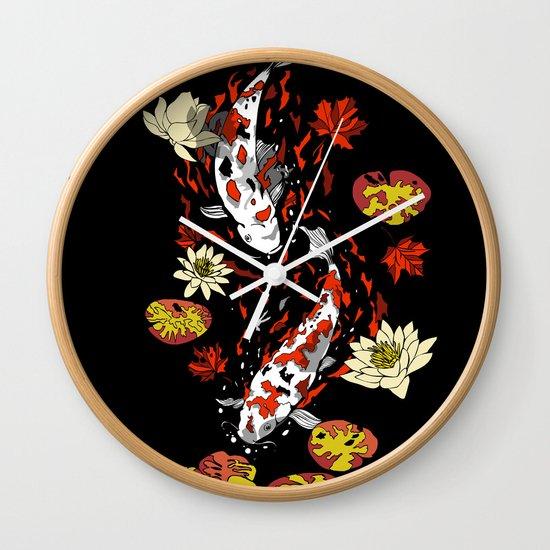 FALLING FISHES Wall Clock
