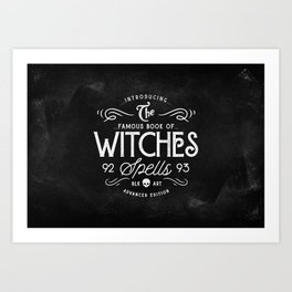 The Witches guide to spells Art Print