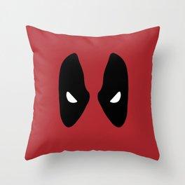 Deadpool Mask Throw Pillow