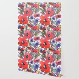 Big Poppy Field Wallpaper