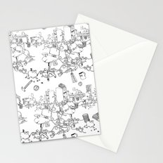 Cubicle War Stationery Cards