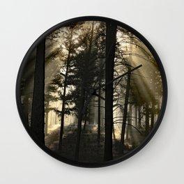 Woodland Sunrise Wall Clock