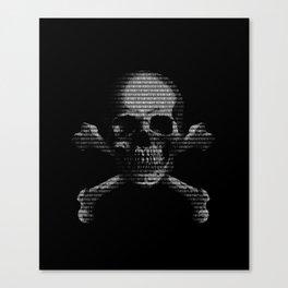 Hacker Skull and Crossbones Canvas Print
