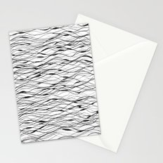 horizontally fine lines Stationery Cards