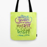 zappa Tote Bags featuring Frank Zappa on Progress by Josh LaFayette