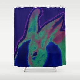 Solar Bunny Shower Curtain