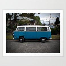 slurpy blue (Curbside VW photo series) Art Print