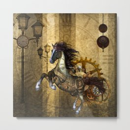 Awesome steampunk horse Metal Print