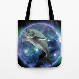 Space dolphin Tote Bag