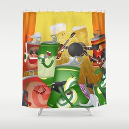 Rock & cheers Shower Curtain
