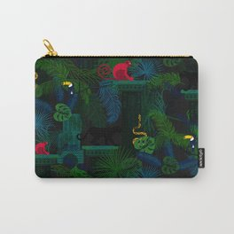 Animals in the jungle on the ruins Carry-All Pouch