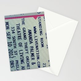 Amanda Palmer & the GTO: Standing Room Stationery Cards