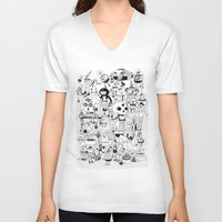 50s V-neck T-shirts featuring US AND THEM  by ALVAREZ