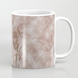 Vintage Palm Leaves Follow Your Heart Typography Coffee Mug