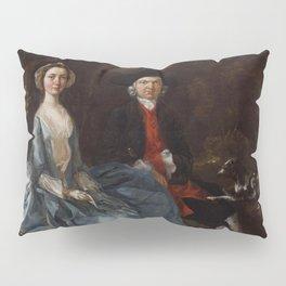 "Thomas Gainsborough ""Sarah Kirby (née Bull); (John) Joshua Kirby"" Pillow Sham"