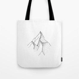 Doted Mountain Tote Bag
