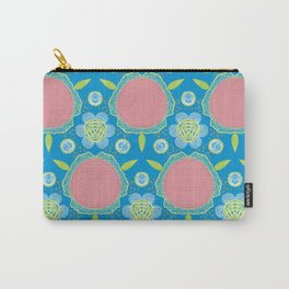 Bold Flwers Carry-All Pouch