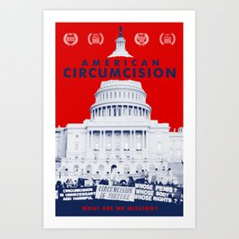 American Circumcision Official Movie Poster Art Print