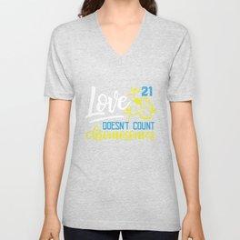 Love For Down Syndrome Unisex V-Neck