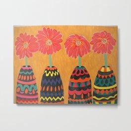 Flowers in Festive Dress Metal Print