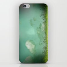 Daydreaming in the meadow - textured photography iPhone & iPod Skin