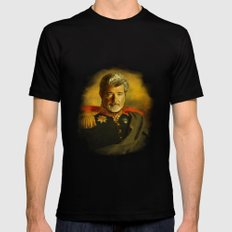 George Lucas - replaceface Black Mens Fitted Tee LARGE