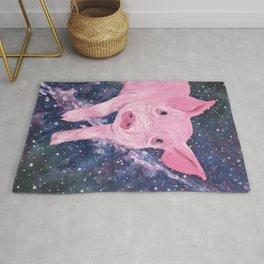 Pig in a Space Blanket Rug