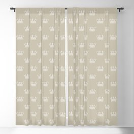Mini George Grey with Pale Grey Crowns Blackout Curtain