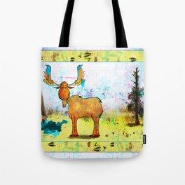 Blue Moose on the Loose ~Ginkelmier Tote Bag