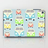 vans iPad Cases featuring Camper Vans by Laura Maria Designs