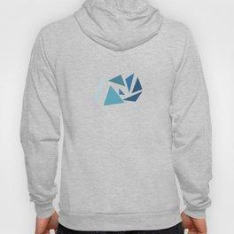blue geometric Hoody