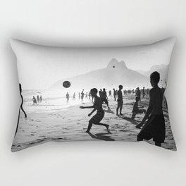 Beach Soccer at Ipanema Rectangular Pillow