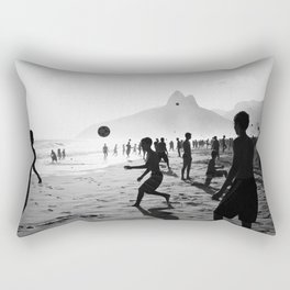 Beach Soccer at Ipanema Rectangular Pillow