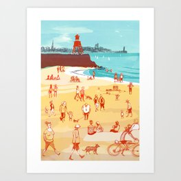 Afternoon on the Beach Art Print