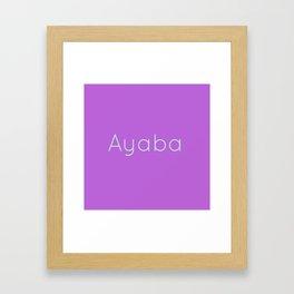 AO Framed Art Print