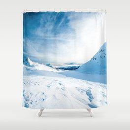Mountain ice 2 Shower Curtain