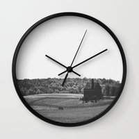 farm Wall Clocks featuring Farm by Warren Silveira + Stay Rustic