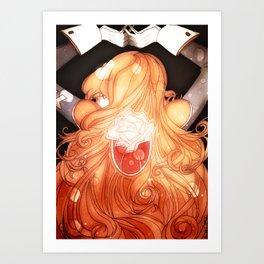 Rose Pendant Art Print
