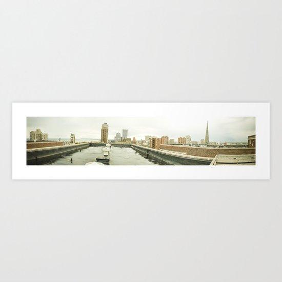 Atop a City Art Print