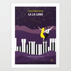 No756 My La La Land minimal movie poster Art Print