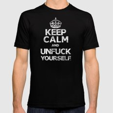 Keep Calm and ..... (w) Mens Fitted Tee Black MEDIUM