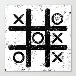 Tic Tac Toe Canvas Print