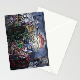 Gods Playing Poker Stationery Cards